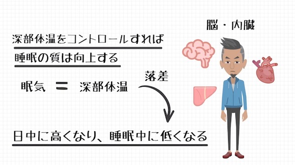 深部体温と睡眠の関係